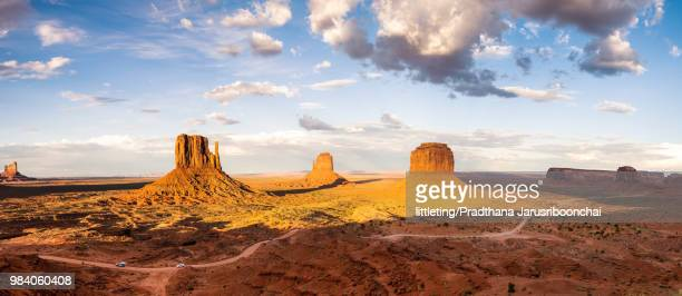 View over Monument Valley  on a sunny afternoon, Tribal Park.