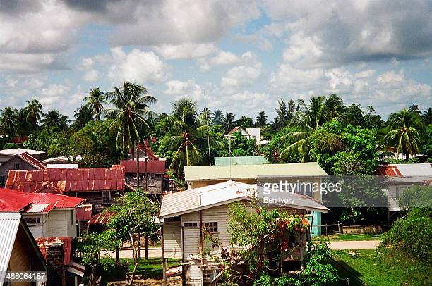 view over new amsterdam in guyana - guyana stock pictures, royalty-free photos & images