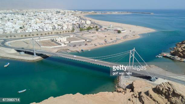 view over old parts of muscat, oman. - muscat governorate stock pictures, royalty-free photos & images