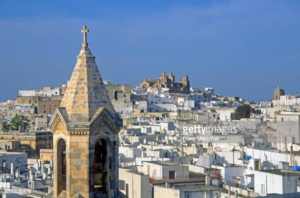 view over ostuni, apulia, italy - ostuni stock photos and pictures