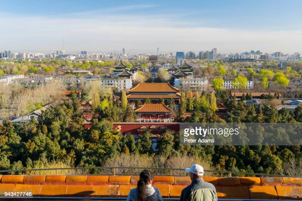 View over over Forbidden City in Beijing, China