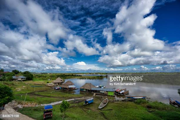view over padrecocha - iquitos stock pictures, royalty-free photos & images
