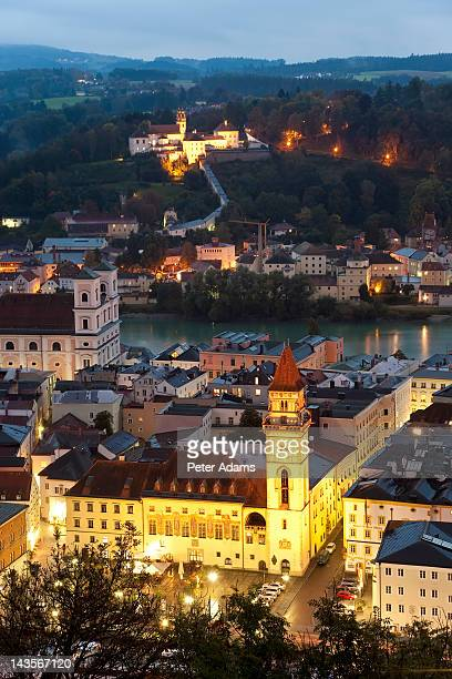 View over Passau at Dusk, Bavaria, Germany