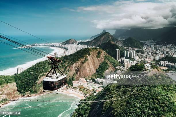 vista sobre rio de janeiro, brasil - pão de açúcar - fotografias e filmes do acervo
