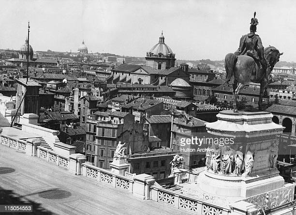 A view over Rome from the Monument to Vittorio Emanuele II known locally as the typewriter circa 1935
