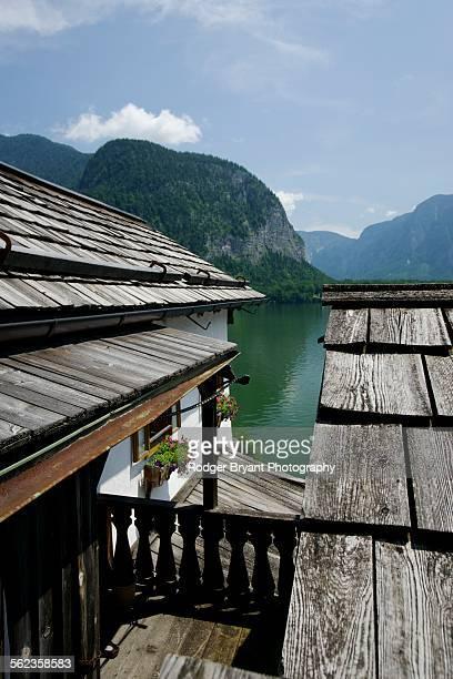 View over roof line in Hallstatt Austria