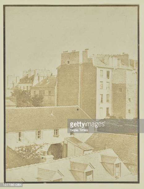 View Over Rooftops; Hippolyte Bayard ; about 1840 - 1849; Salted paper print; 22.9 x 17.1 cm .