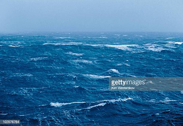 View over rough sea during Force 11 storm