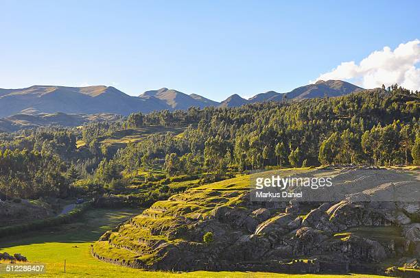 """view over sacsayhuaman, cusco, peru - """"markus daniel"""" stock pictures, royalty-free photos & images"""