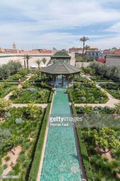 Blick über Secret Garden in Marrakesch