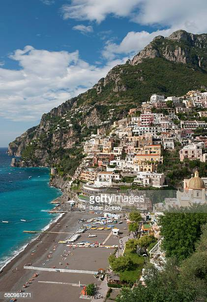View over Spiaggia Grande in Positano