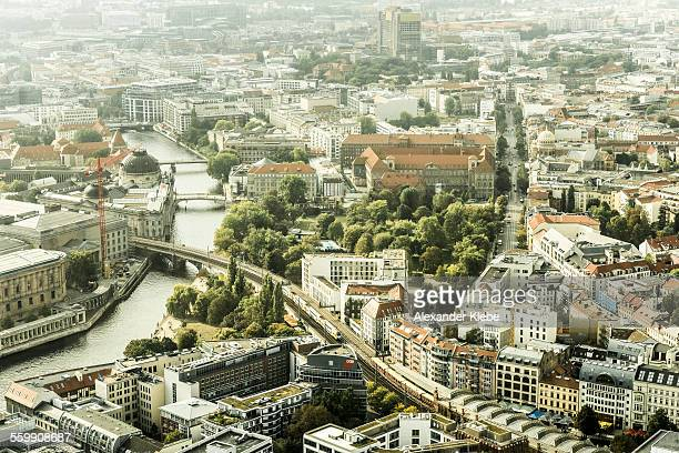 View over Spree river and city centre of Berlin