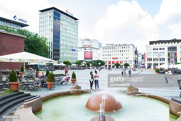 View over square Kennedy Platz
