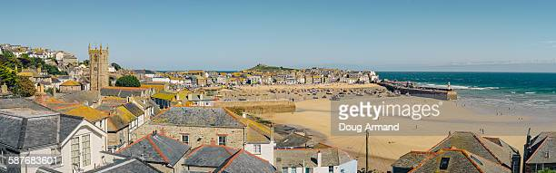 View over St Ives harbour, Cornwall, UK