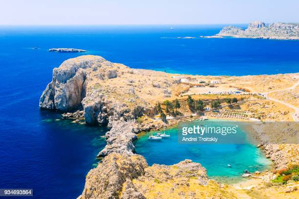 View over St. Paul's Bay, Lindos, Rhodes