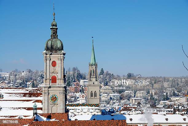 View over St.Gallen in winter