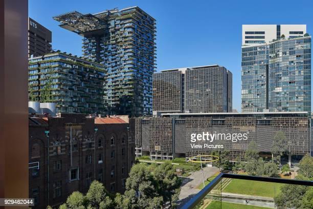 View over surrounding precinct and park from apartment balcony Connor Apartments Sydney Australia Architect Smart Design Studio 2017