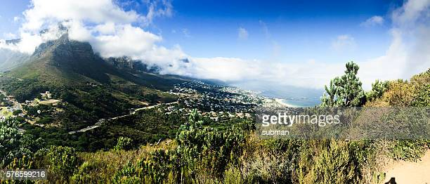 View over Table mountain with clouds