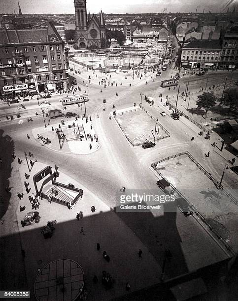 A view over the Alexanderplatz in Berlin Germany 1932