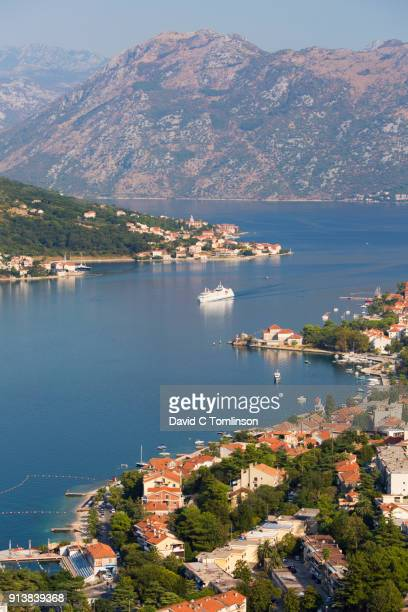 View over the Bay of Kotor from the Town Walls, Kotor, Montenegro
