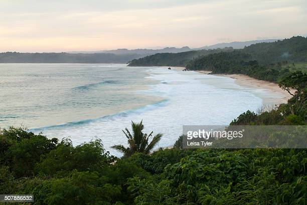 View over the beach at Nihiwatu a resort on Sumba in Indonesia