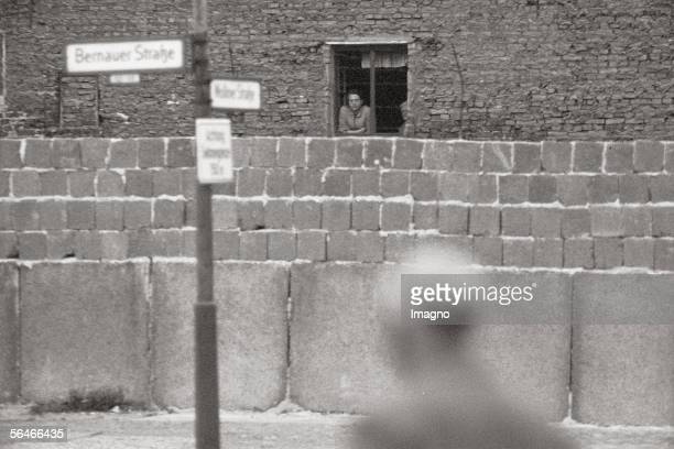 View over the Berlin Wall to East Berlin Photography Germany 1961/62 [Blick ueber die Berliner Mauer nach Ostberlin an der Bernauer Strasse...