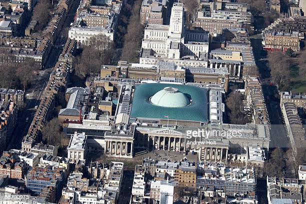 view over the british museum in london. - british museum stock pictures, royalty-free photos & images