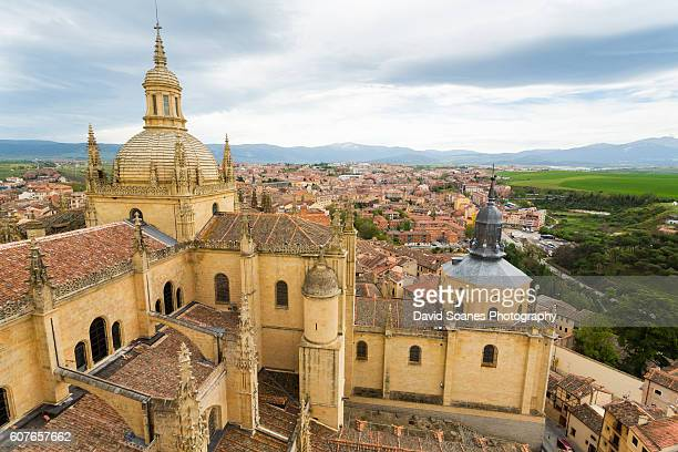 A view over the Cathedral of Segovia in Spain