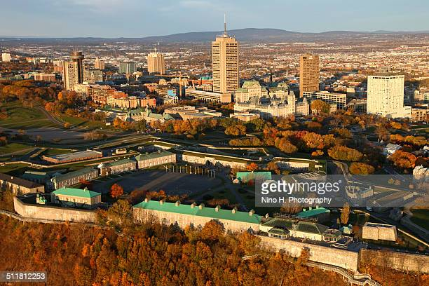 View over the citadelle of Quebec in fall