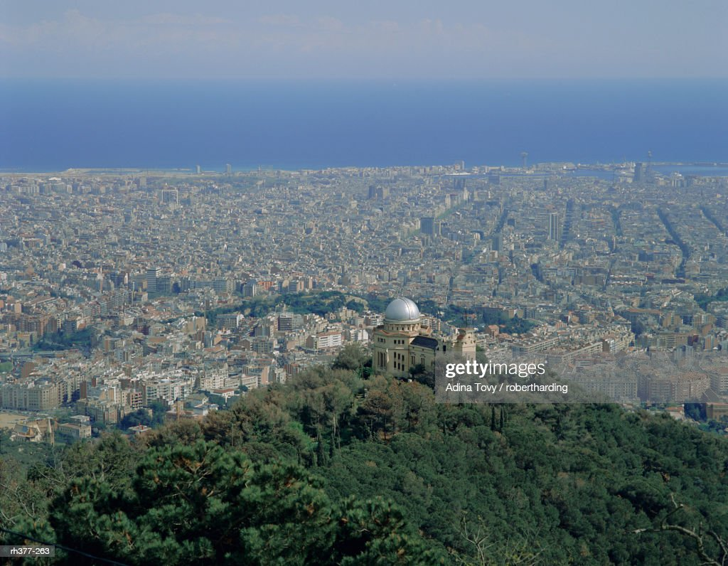 View over the city, Barcelona, Catalonia (Cataluna) (Catalunya), Spain, Europe : Stockfoto