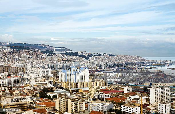 view over the city of algiers - algiers algeria stock pictures, royalty-free photos & images