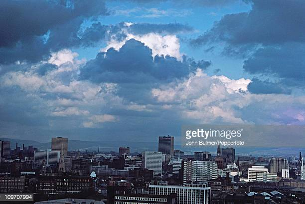 A view over the city of Manchester England in 1976