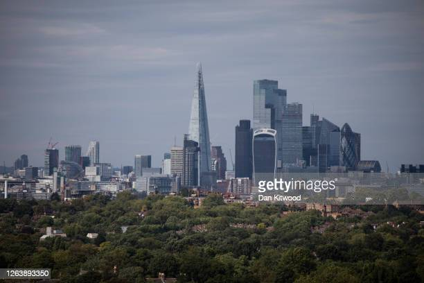 View over the city skyline on August 4, 2020 in London, England. Despite the governments hope that most most of the economy would be able to open as...