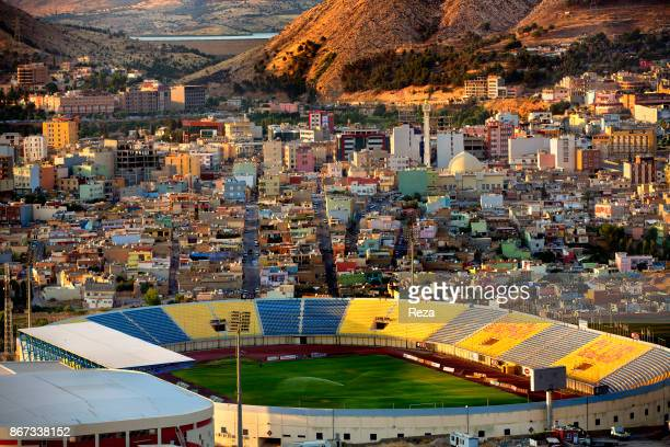 View over the city stadium in the city of Duhok which is one of the three most important city of the regional governorate of Iraqi Kurdistan Second...