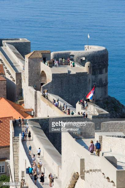 View over the City Walls from the Minceta Fortress, Dubrovnik, Croatia