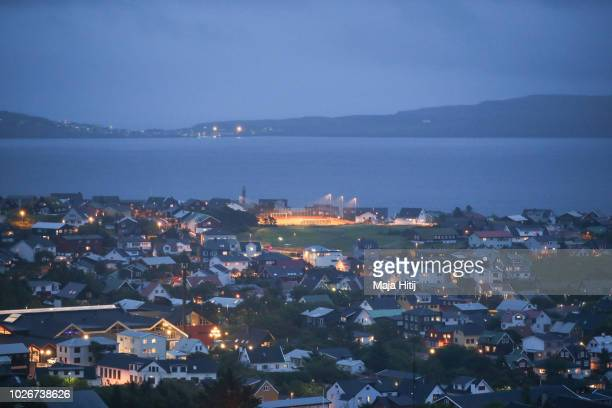 A view over the country's capital Torshavn on September 04 2018 in Torshavn The Faroe Islands