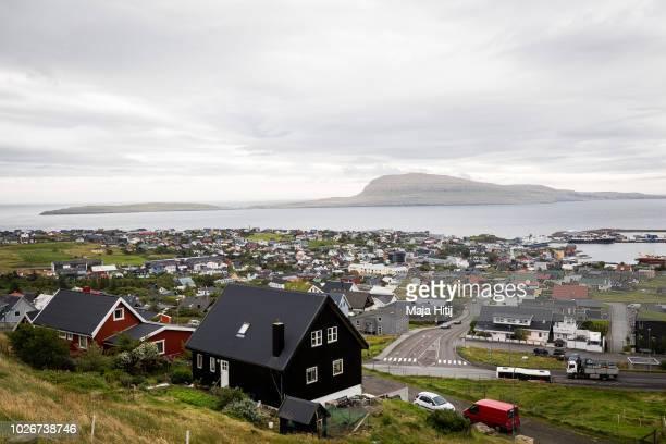 View over the country's capital Torshavn on September 04, 2018 in Torshavn, The Faroe Islands.