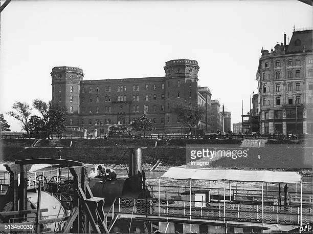 View over the Danube Canal on the FranzJosephbarracks circa 1898 By Karl Demel