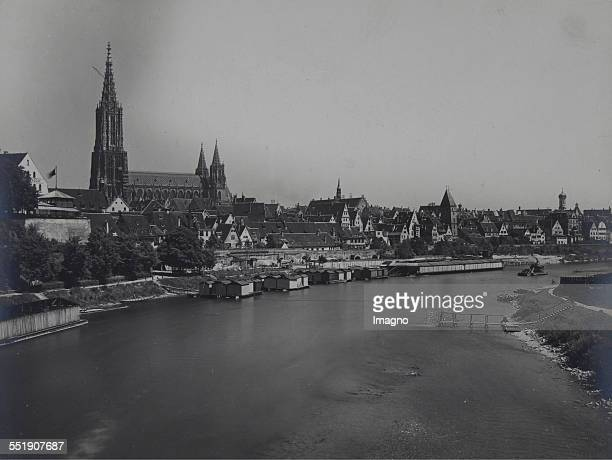 View over the Danube to the city of Ulm About 1895 Photograph