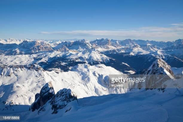 View over the Dolomites from Mount Marmolada