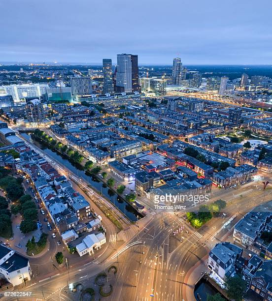 view over the hague at night - the hague stock pictures, royalty-free photos & images