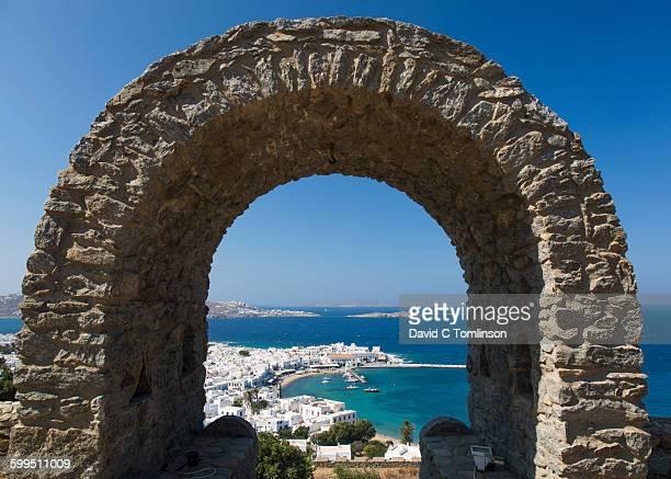 View over the harbour, Mykonos Town, Mykonos