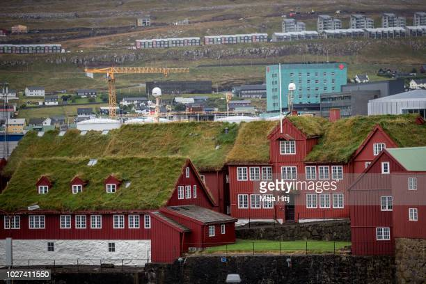 A view over the historical government quarter at the small and rocky Tinganes peninsula on September 05 2018 in Torshavn The Faroe Islands Many of...