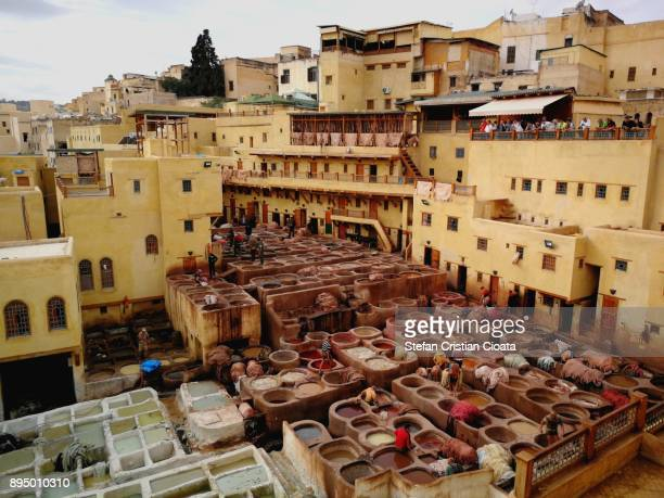 View over The Leather Tanneries of Fez