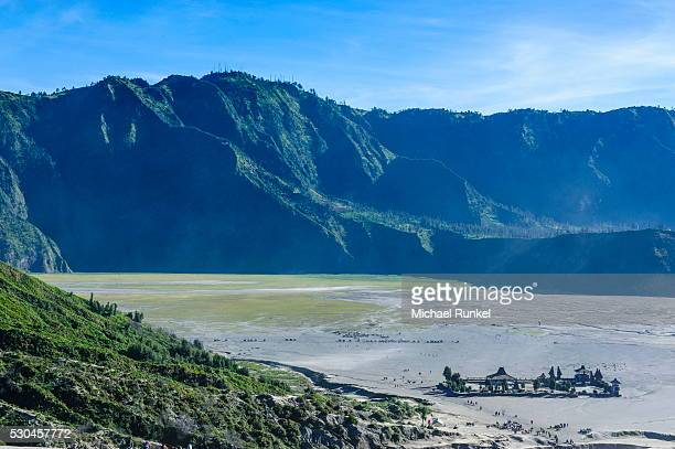view over the mount bromo crater, bromo tengger semeru national park, java, indonesia, southeast asia, asia - bromo crater stock pictures, royalty-free photos & images
