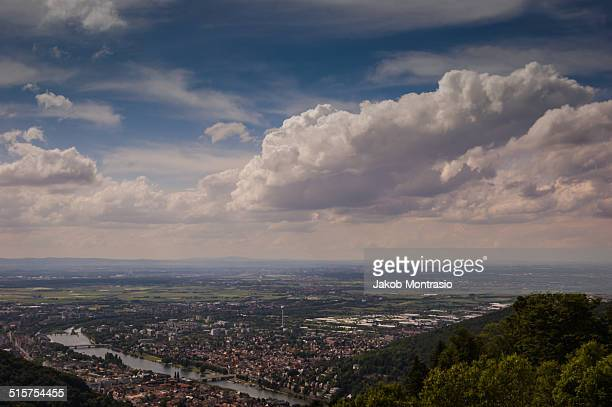 view over the neckartal - jakob montrasio stock pictures, royalty-free photos & images