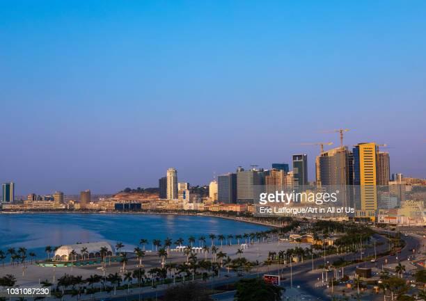View over the new Marginal promenade called avenida 4 de fevereiro Luanda Province Luanda Angola on July 21 2018 in Luanda Angola