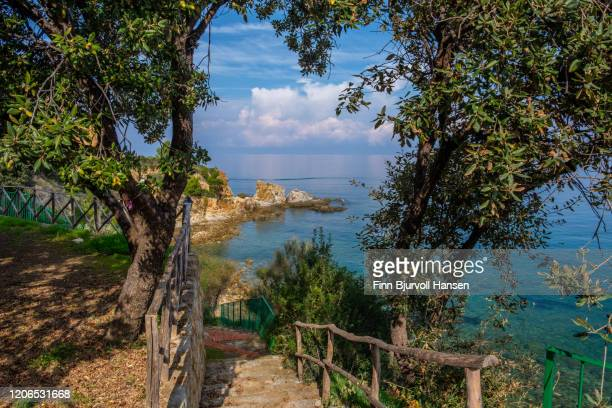 view over the ocean at finale sicilly - finn bjurvoll stock pictures, royalty-free photos & images