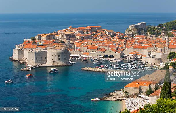 View over the Old Harbour, Dubrovnik