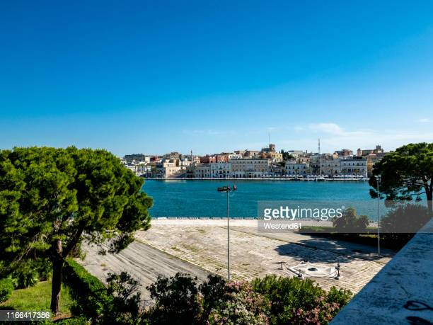 view over the old town of brindisi with - ブリンディシ ストックフォトと画像